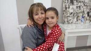 Merche Tortosa con su hija Candela Rosales Tortosa