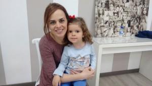 Mariló del Valle con su hija Julia Martinez del Valle
