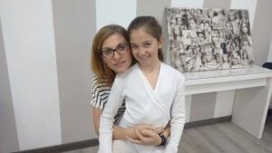 Mache Naranjo con su hija Lucía Marti Naranjo