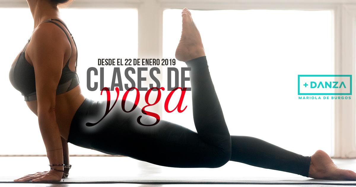 Nuevas clases de yoga a partir de enero en Más Danza Mariola de Burgos